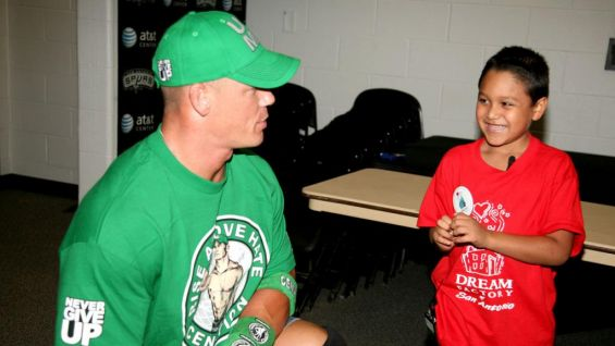 John Cena meets WWE Circle of Champions honoree, Isaiah, before Raw.