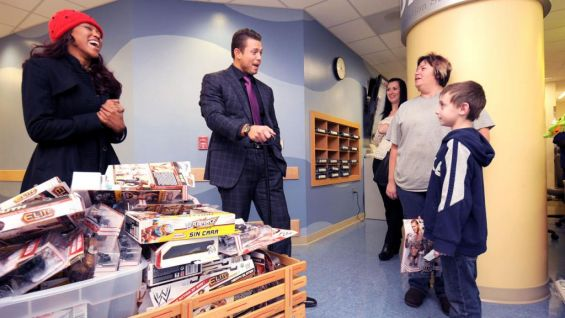 WWE AJ Fan Site https://community.wwe.com/hope/gallery/miz-aj-lee-and-alicia-fox-visit-riley-hospital-children-photos