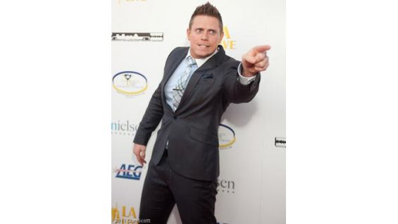 The Miz shows off his awesomeness at the Los Angeles event.