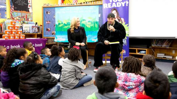 Natalya and Brodus Clay took part in the 2013 edition of the WrestleMania Reading Challenge in Houston.