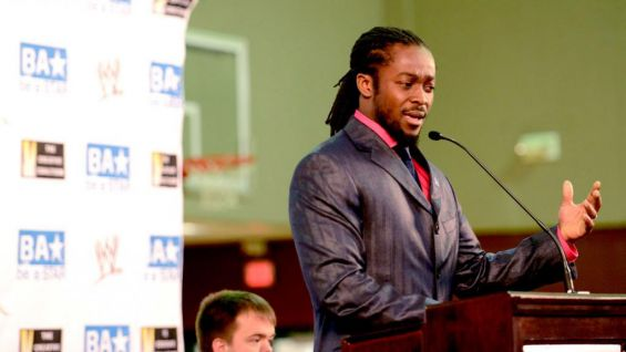 Kofi Kingston encouraged the children not to be bystanders if they see someone being bullied.