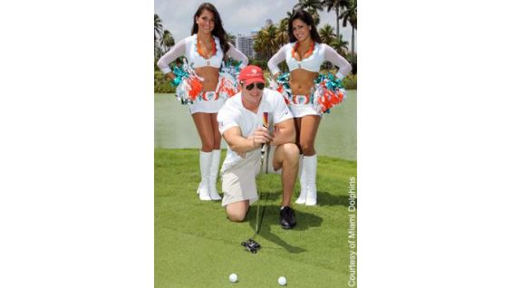 DiBiase looks to make a hole-in-one in the golf tourney.