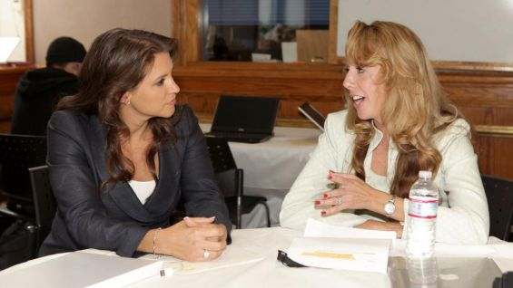 Stephanie McMahon sits down for a chat with Elizabeth Gore, Vice President of Global Partnerships for the United Nations Foundation.