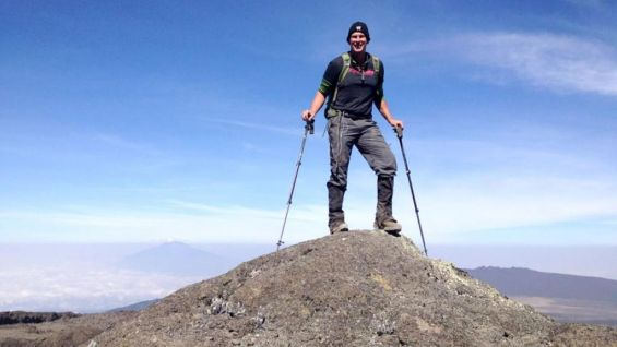 JBL stands tall at 15,500 feet, getting closer to the summit of Mount Kilimanjaro in Tanzania.