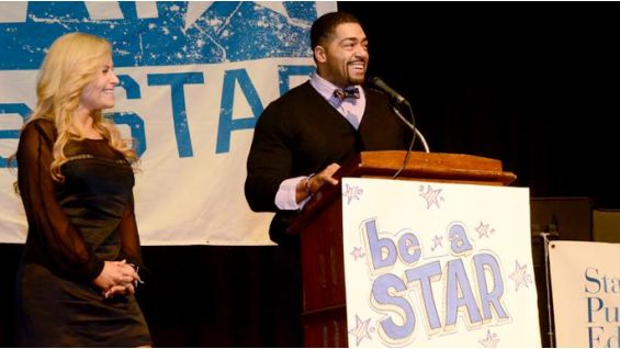 The Superstar and Diva talk to the kids about WWE's Be a STAR initiative.