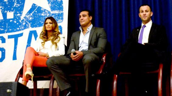 Eve, Del Rio and Micah Jesse watch as the kids hear an important message.
