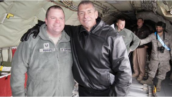 WWE CEO Vince McMahon shows his support for those stationed overseas.