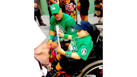 Cena and Jonathan's second meeting is as memorable as their first, made possible by Make-A-Wish.
