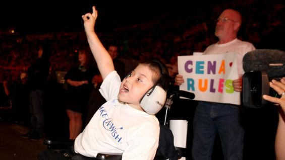 Jonathan cheers for his favorite WWE Superstar!