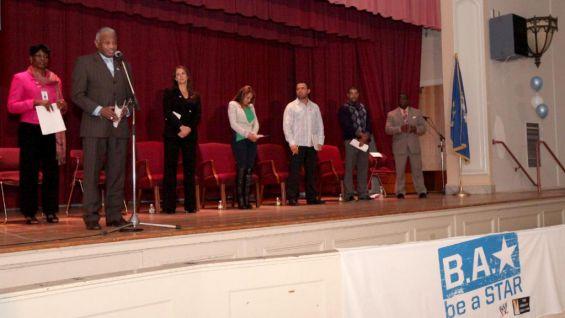 Former Hartford Mayor Thirman Milner welcomes everyone to the academy.