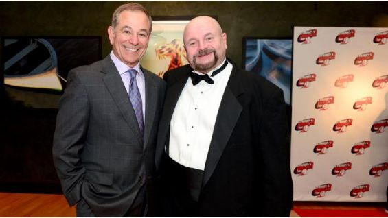 Howard Finkel poses with Boston Red Sox manager Bobby Valentine.