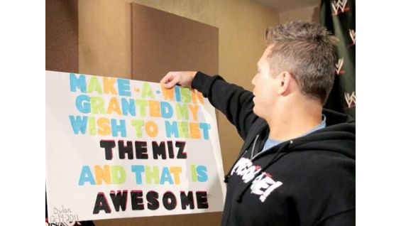The Miz takes a look at the poster Dylan made to commemorate this special event.