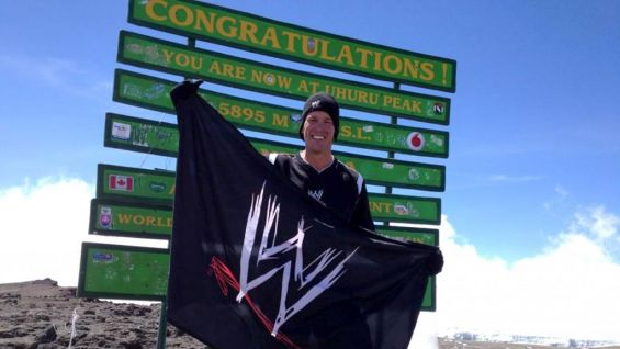"""""""13 1/2 hour day. Beyond tired. I planted a @wwe flag at the top of Africa! All to help kids!"""" - from @JCLayfield on Twitter after reaching the peak of Mount Kilimanjaro."""