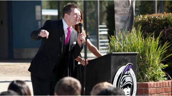 The Miz urges the students at Los Coyotes to take a stand against bullying.