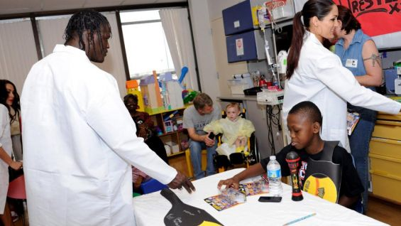 This patient came prepared with his microphone and questions for R-Truth and the rest of the Superstars.