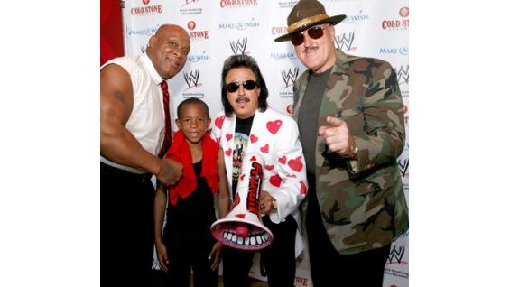 WWE Hall of Famers Tony Atlas and Sgt. Slaughter also attended.