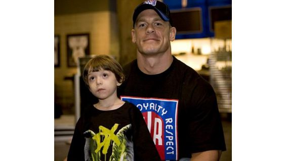 Jayden Langan, 4, of Seminole, Fla., with Cena in March 2009.