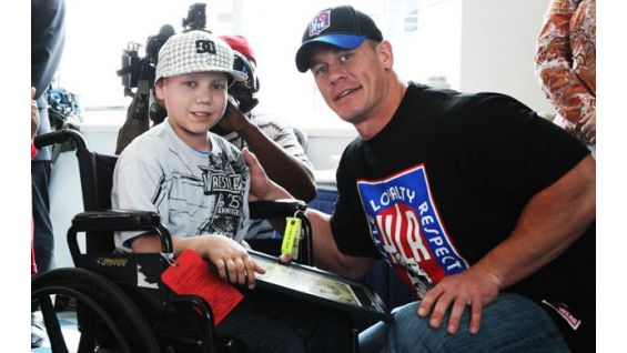 Cena meets Wish kids at the 25th Anniversary of WrestleMania.