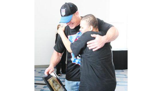 He met dozens of Wish kids in Houston in April 2009.