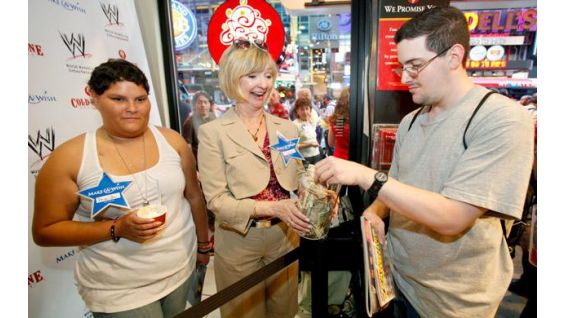 Make-A-Wish stars are sold for $1 at Cold Stone Creamery.