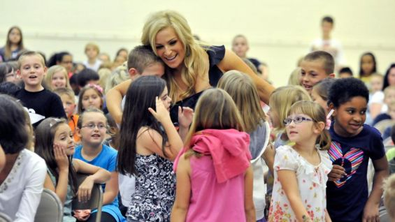 The Diva always has plenty of hugs to share with the WWE Universe.
