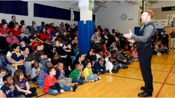 The winner of the 2012 Royal Rumble talks to the kids about the be a STAR anti-bullying initiative.
