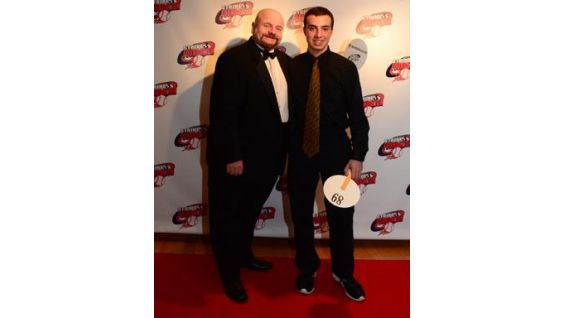 WWE Legend Howard Finkel poses on the red carpet at the gala.