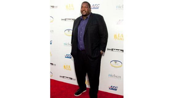 """The Blindside"" actor Quinton Aaron on the red carpet."