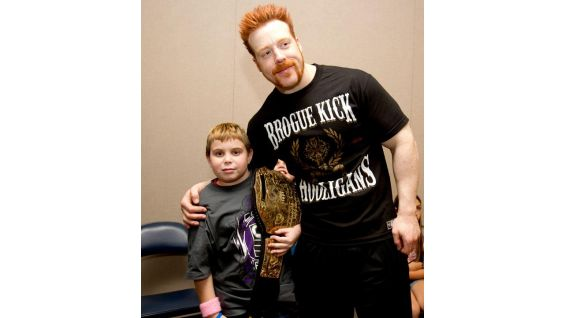 Zachary, 11, also gets to meet World Heavyweight Champion Sheamus before SmackDown in Memphis, Tenn.