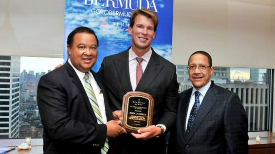 """""""Presented with Bermuda flag and plaque by Minister for good luck on climbs."""" from @JCLayfield on Twitter."""