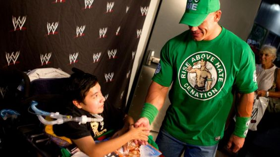 Cena also meets WWE Circle of Champions honoree, Jose.