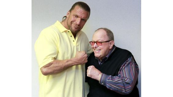 Triple H and Jerry Weinberg, MDA's CEO and President.