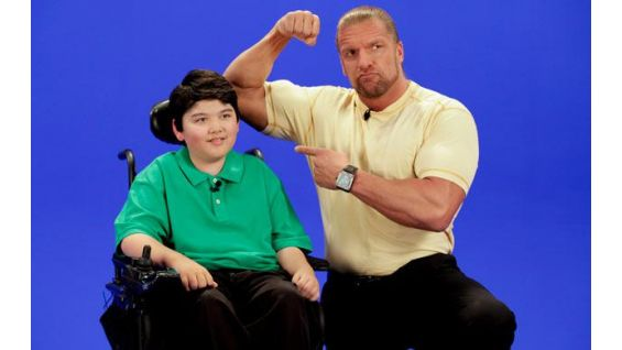 Triple H and Max record a video PSA campaign for MDA.