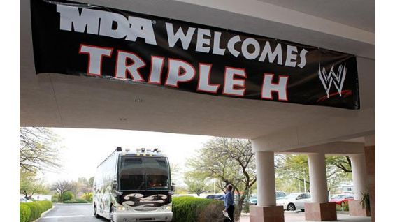 Triple H arrives at MDA's headquarters in Tucson, Ariz.