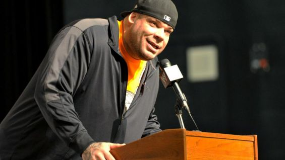 Brodus Clay explains the different forms of bullying, such as cyber, physical and verbal.