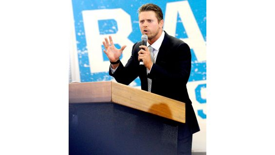 The Miz urged the kids to combat cyberbullying by spreading positive messages on Facebook and Twitter.