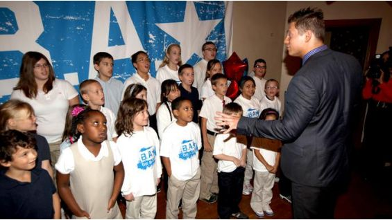 The Miz talks to the kids from his hometown.