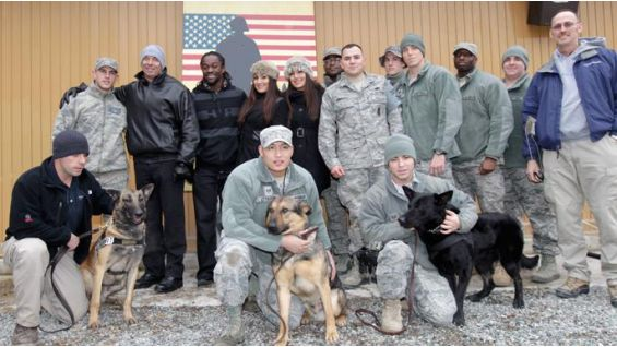 The troops were excited to see some of their favorite Superstars and Divas.