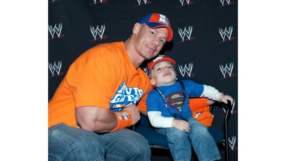 John Cena meets Circle of Champions honoree, Stephen Bennett.