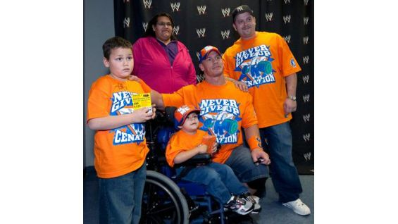 The 4-year-old and his family met Cena in Nashville, Tenn.