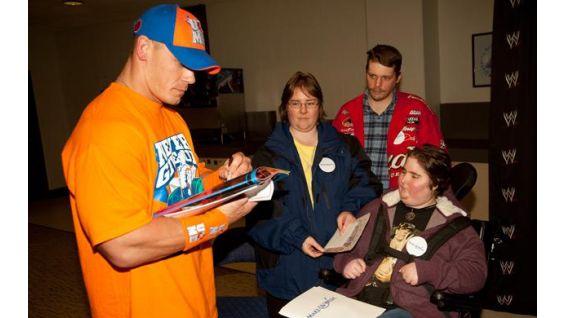 Bethany Moyer meets her favorite WWE Superstar, John Cena.