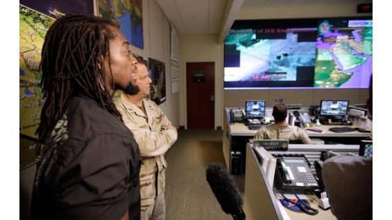 Kingston learns more about CENTCOM operations.