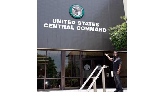 Intercontinental Champion Kofi Kingston visits U.S. Central Command.