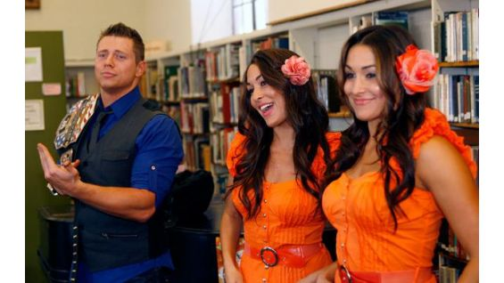 The Miz and The Bella Twins delight the WWE Universe.