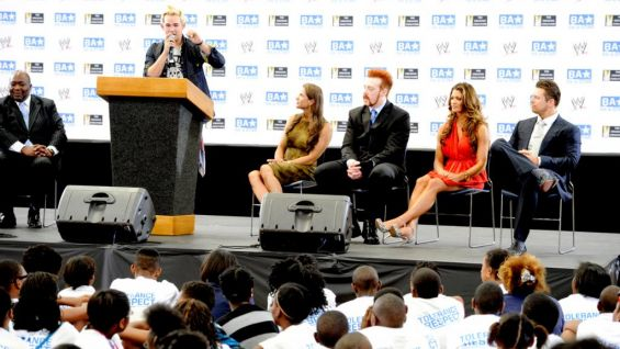 James Durbin, a fan favorite from season 10 of American Idol, told the children about how he was bullied as a child and how he overcame it.