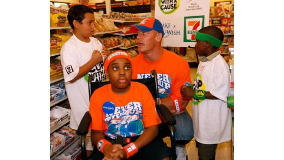 Cena talks to the boys about the upcoming Raw that night in Kansas City.