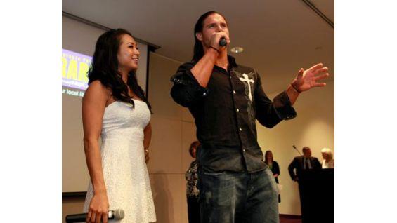 John Morrison helps the Diva promote the WrestleMania Reading Challenge.