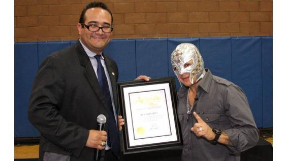 Rey Mysterio co-hosted the SummerSlam Fatherhood and Mentoring Rally.