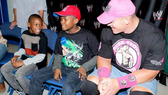 John Cena meets Kaisean before Raw in Bridgeport, Conn.