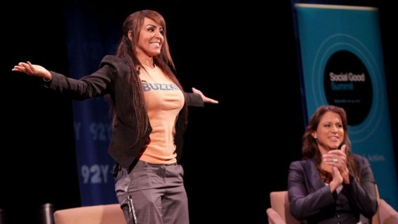 """""""I'm proud to once in my life say 'I'm a buzzkill,' """" Layla tells the crowd to big cheers."""